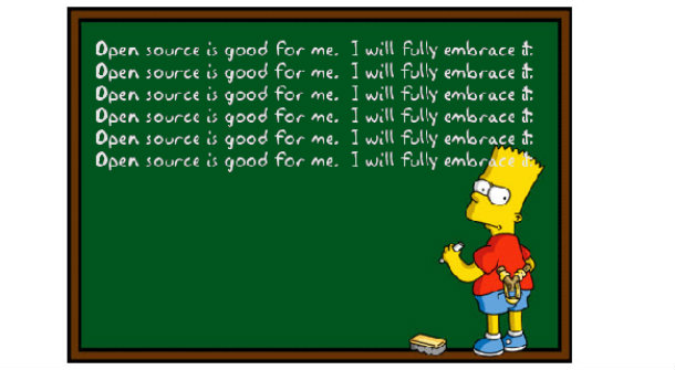 Open Source Bart Simpson